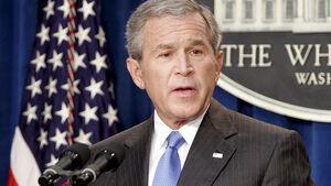 George W. Bush im Weißen Haus