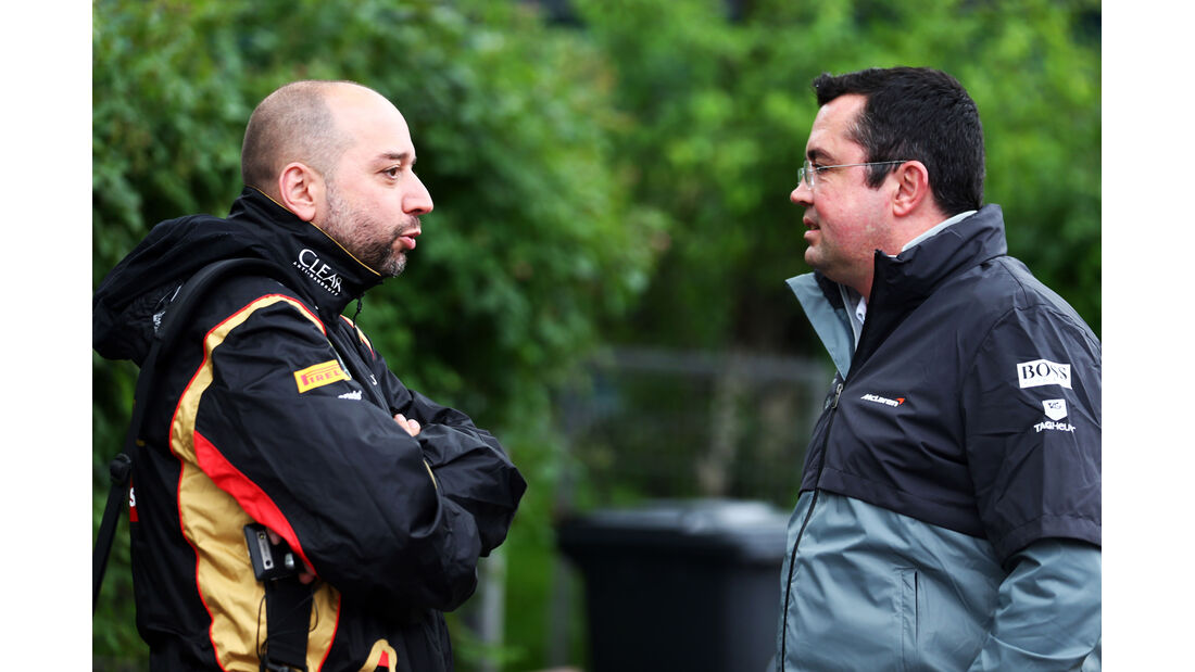 Gerard Lopez & Eric Boullier - Formel 1 - GP China - Shanghai - 19. April 2014