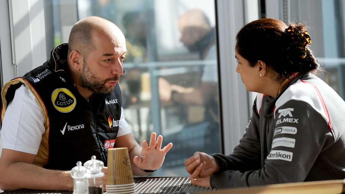 Gerard Lopez & Monisha Kaltenborn - GP USA 2014