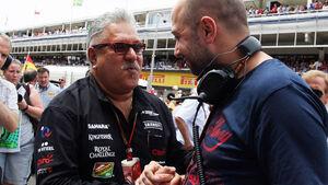 Gerard Lopez Vijay Mallya Lotus  Force India Formel 1 2014