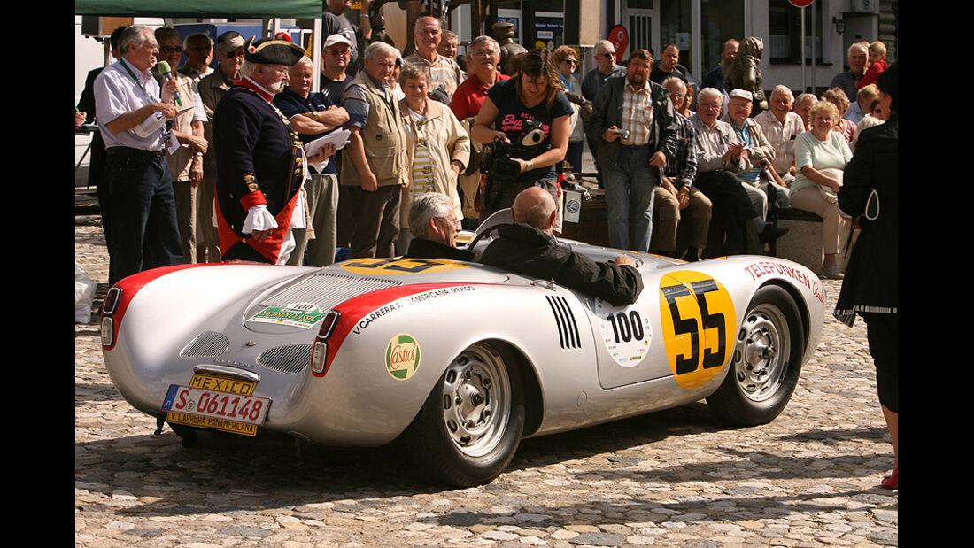 Gerd Hildebrand und Bernd Ostmann im Porsche 550 Spyder Panamericana