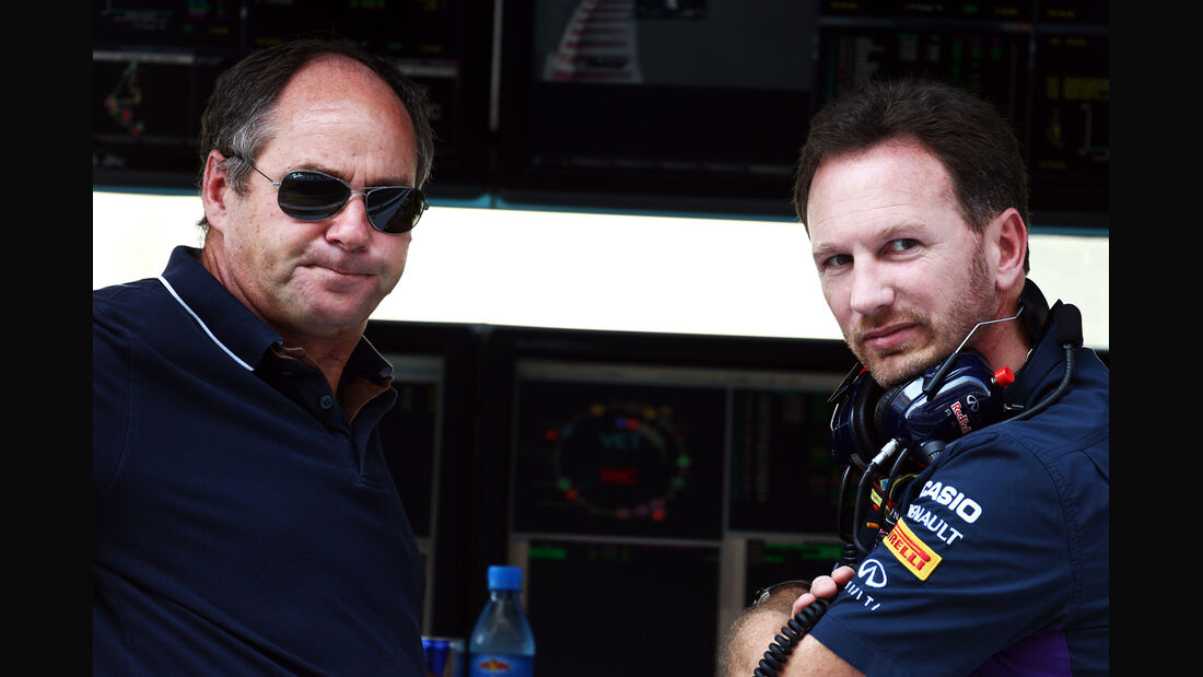 Gerhard Berger & Christian Horner - Formel 1 - GP Abu Dhabi - 21. November 2014
