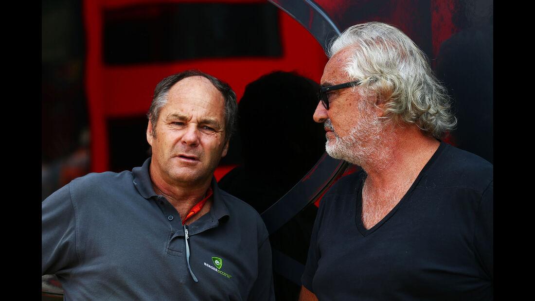 Gerhard Berger & Flavio Briatore - Formel 1 - GP Italien - Monza - 3. September 2016