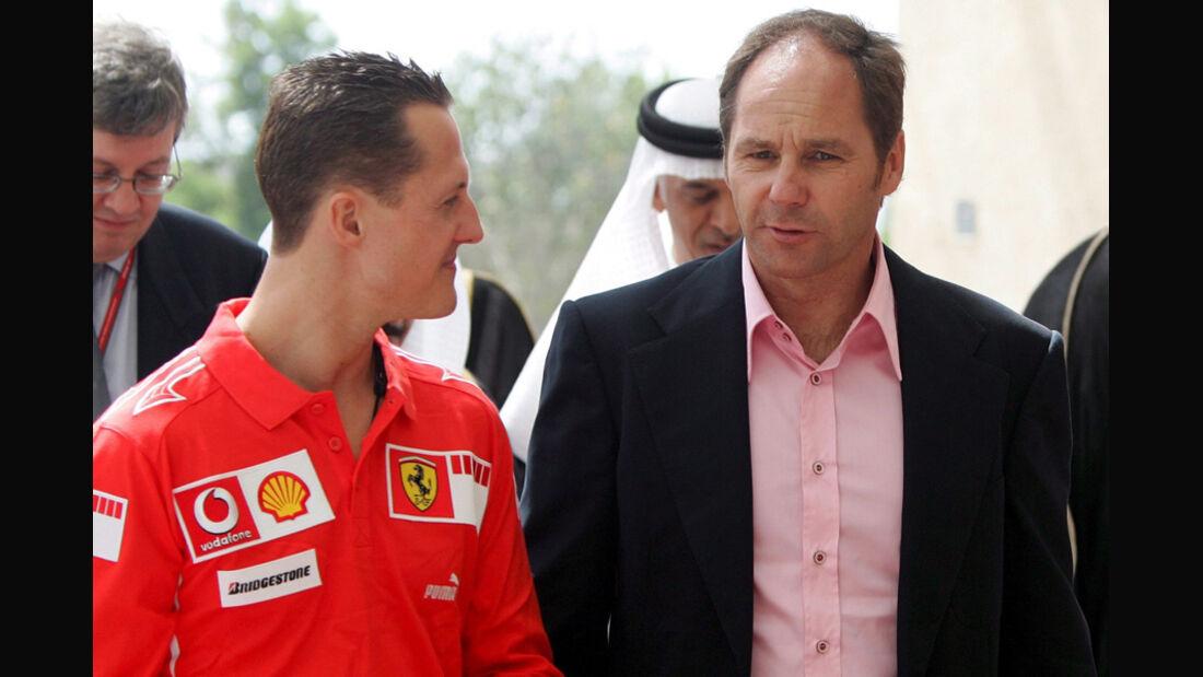 Gerhard Berger & Michael Schumacher