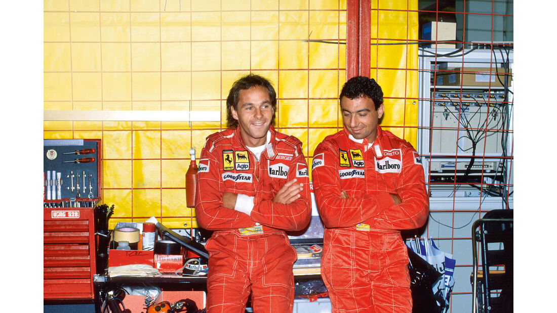 Gerhard Berger - Michele Alboreto - GP Ungarn 1988