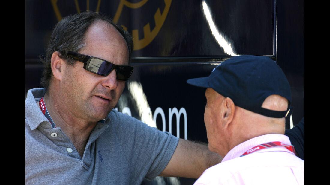 Gerhard Berger & Niki Lauda