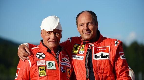 Gerhard Berger & Niki Lauda - GP Österreich 2014