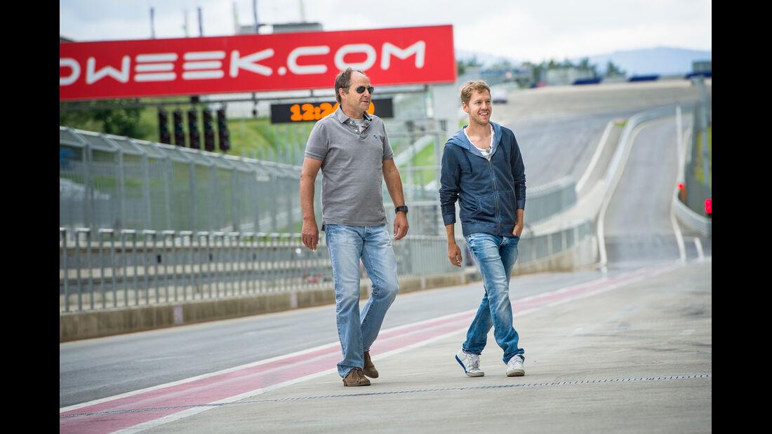 Gerhard Berger & Sebastian Vettel - Spielberg 2014