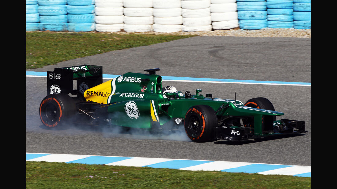 Giedo van der Garde Caterham F1 Test Jerez 2013 Highlights