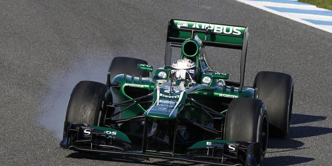 Giedo van der Garde Caterham F1 Test Jerez 2013 Highlights