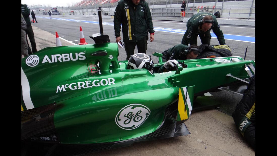 Giedo van der Garde - Caterham - Formel 1 - Test - Barcelona - 21. Februar 2013