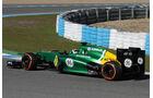 Giedo van der Garde, Caterham, Formel 1-Test, Jerez, 5.2.2013