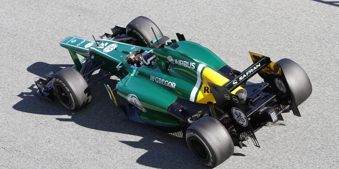 Giedo van der Garde, Caterham, Formel 1-Test, Jerez, 6.2.2013