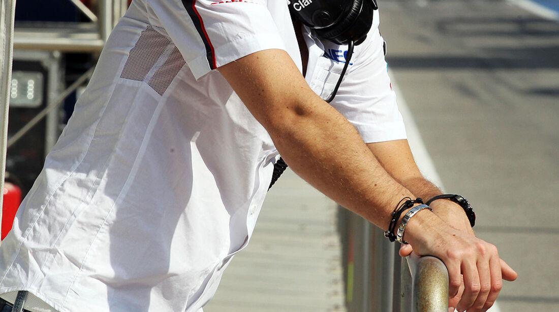 Giedo van der Garde - Sauber - Formel 1 - Test - Bahrain - 27. Februar 2014