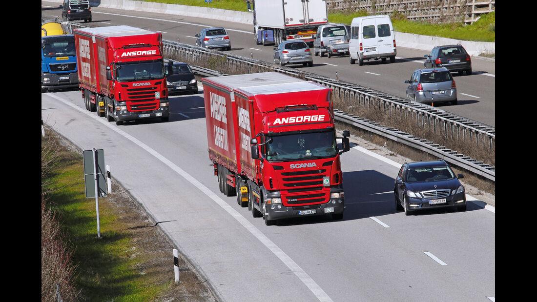 Gigaliner, Autobahn