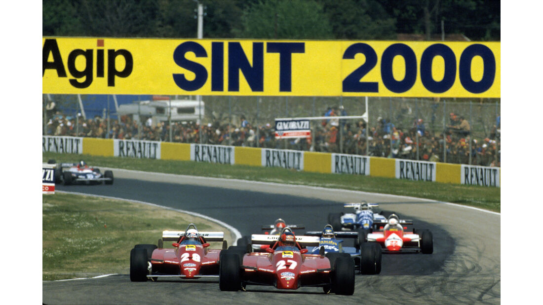 Gilles Villeneuve - Didier Pironi - Ferrari 126C2 - San Marino 1982