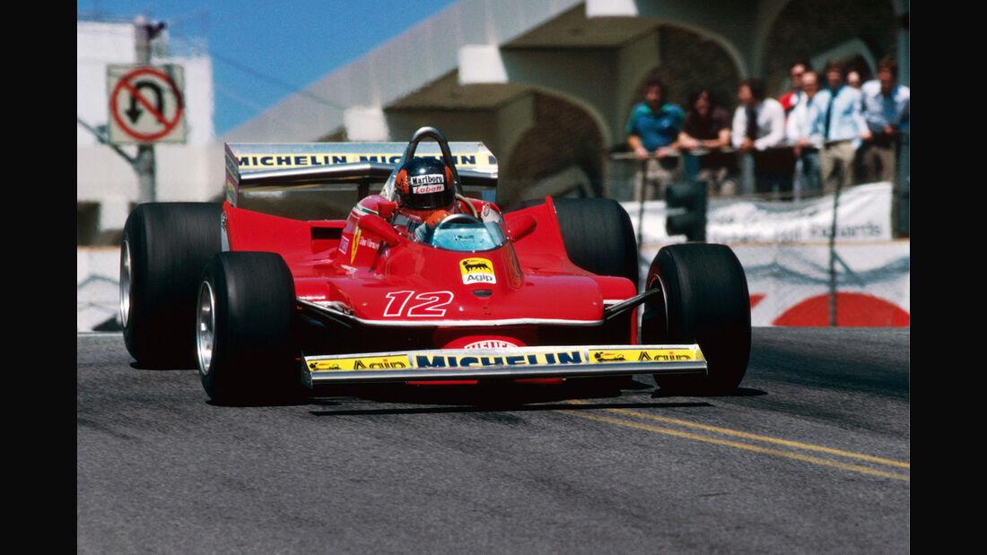 Gilles Villeneuve - Ferrari 312T4  Long Beach 1979