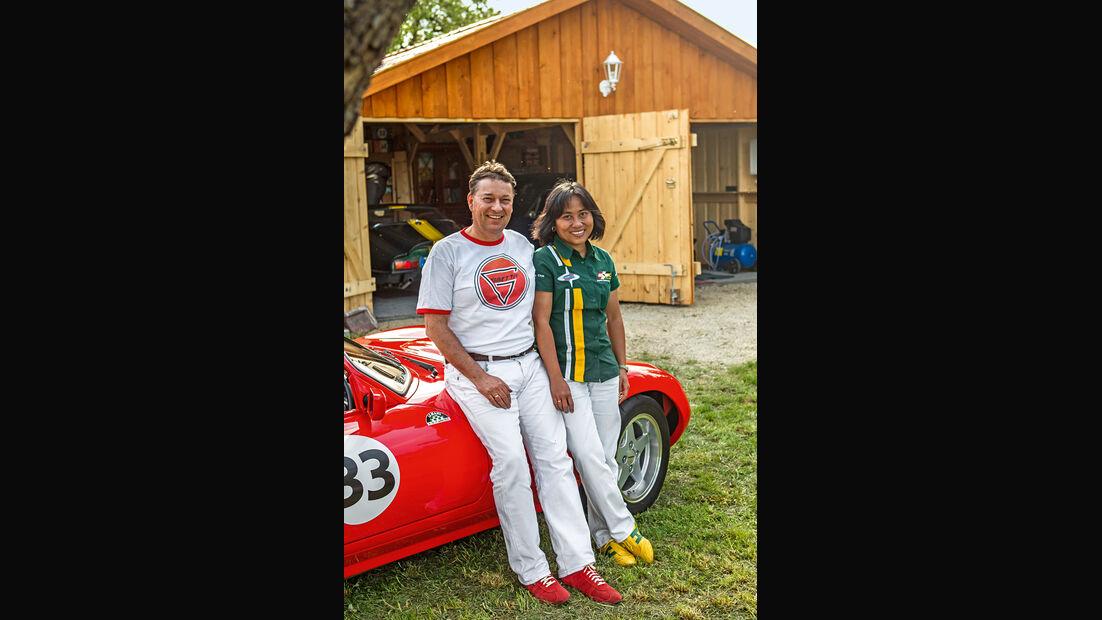 Ginetta G33, Matthias Glock und Ehefrau Lifia