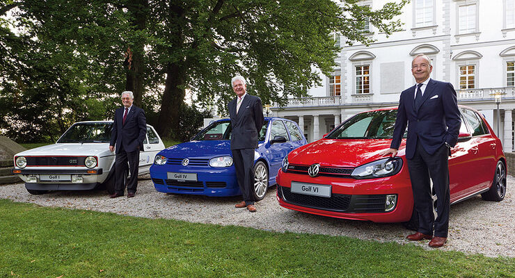Giorgio Giugiaro, Hartmut Warkuß, Walter de Silva VW Golf