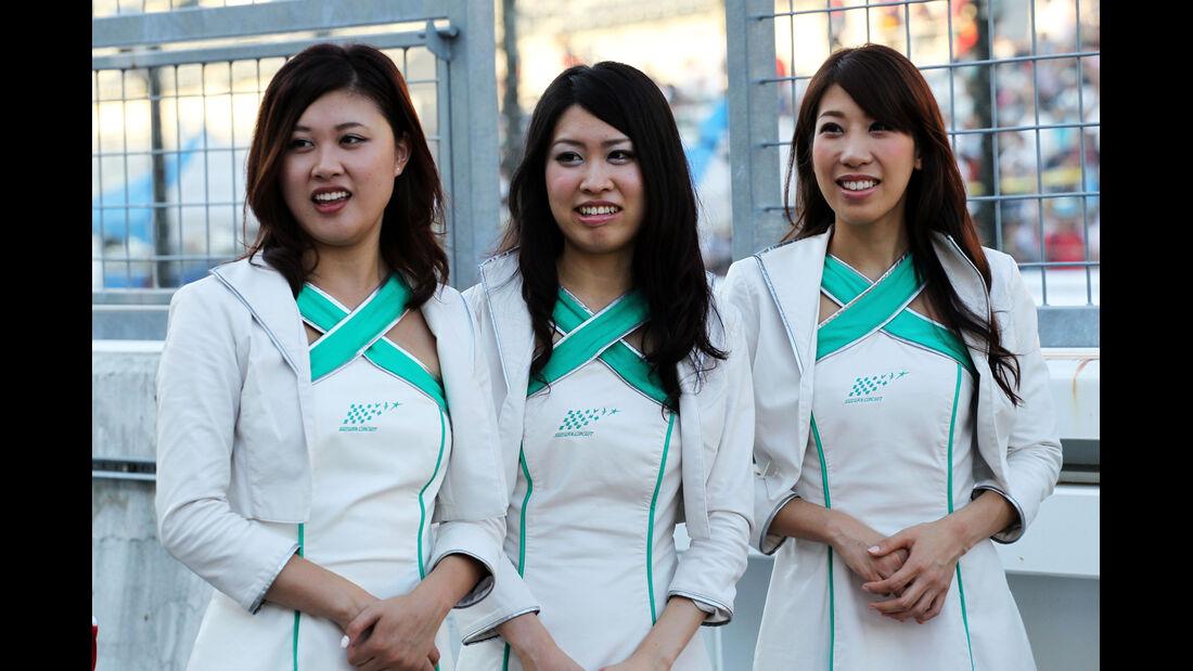 Girls - Formel 1 - GP Japan - 10. Oktober 2013
