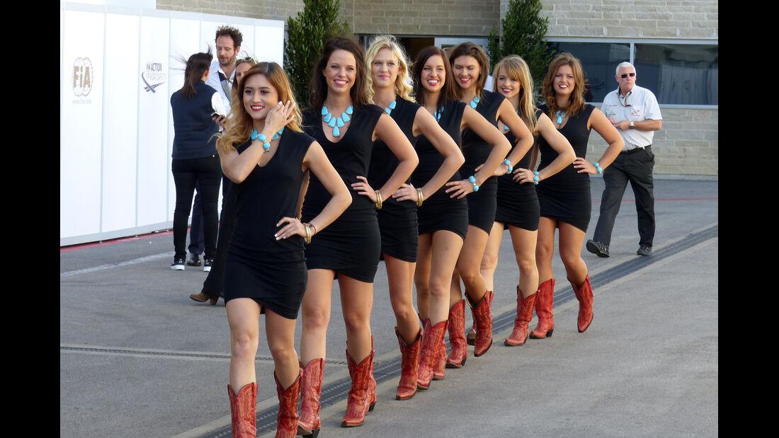 Girls - Formel 1 - GP USA - 31. Oktober 2014