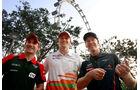 Glock, Hülkenberg & Vettel - Formel 1 - GP Singapur - 20. September 2012
