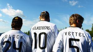 Glock, Hülkenberg und Vettel