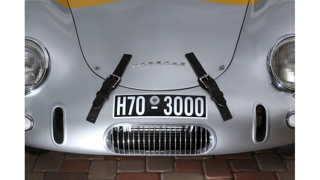 Glöckler-Porsche, Kühlergrill, Motorhaube