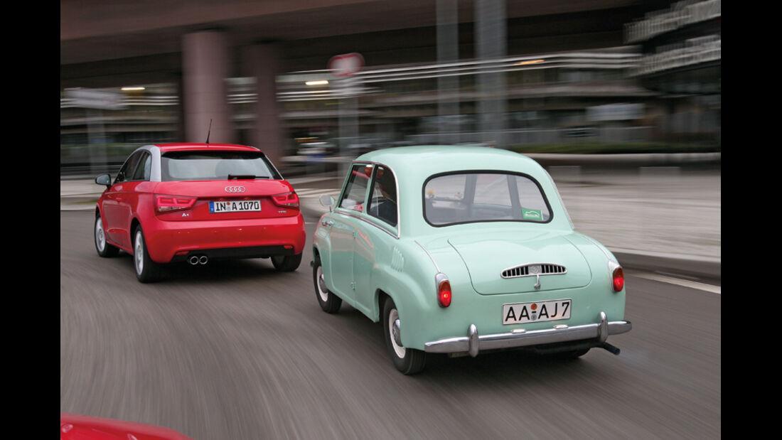 Goggomobil T250, Audi A1, Heck
