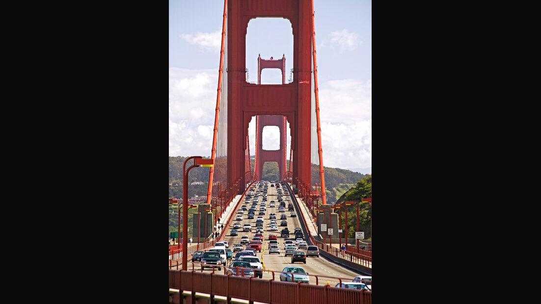 Golden Gate Bridge, Straßenverkehr