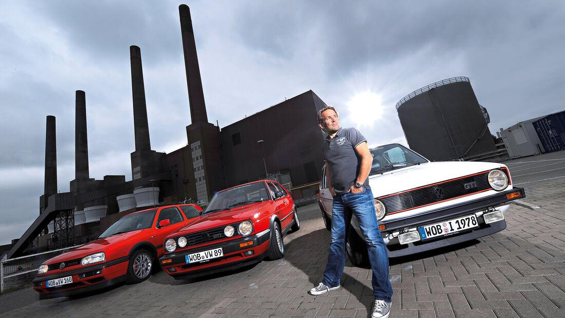 Golf GTI, verschiedene Fahrzeuge, Front