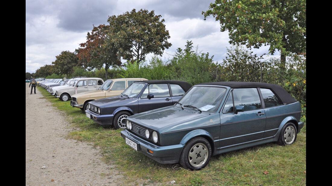 Golf I Cabrio auf der Veterama Mannheim 2011 - Marktplatz