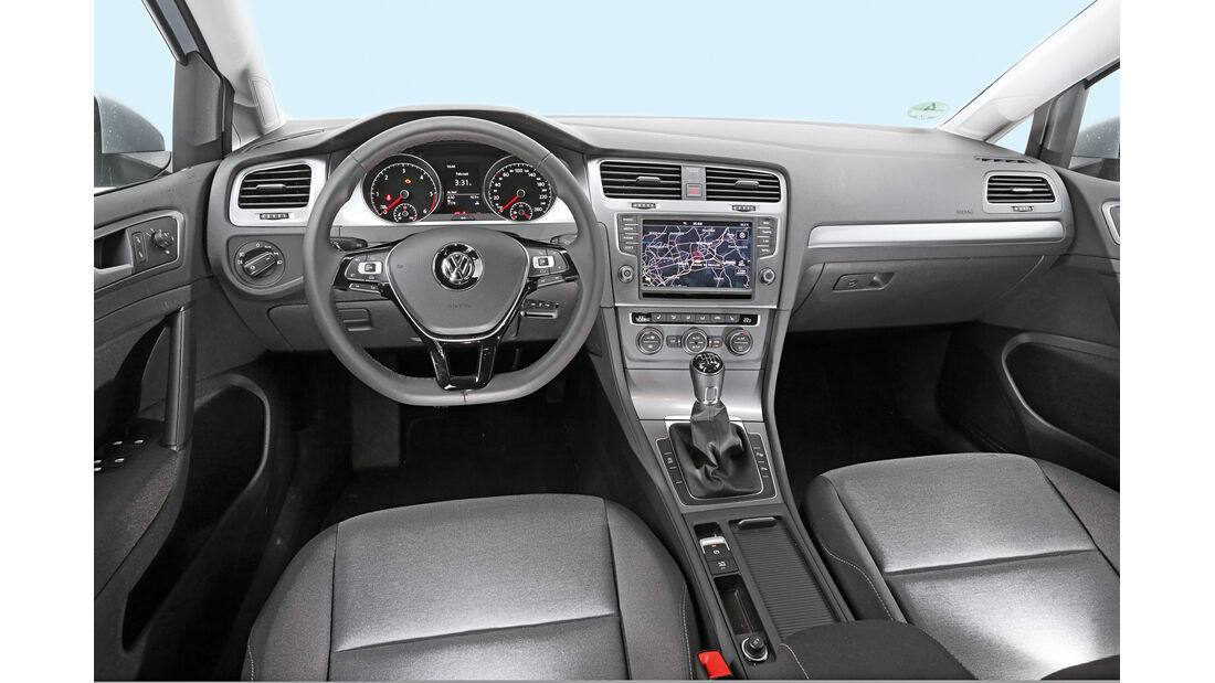 Golf TDI Bluemotion, Cockpit