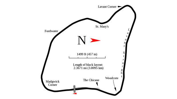 Goodwood Circuit - Streckenplan