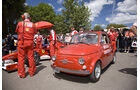 Goodwood Festival of Speed 2010: Ferrari Formel 1-Auto und Fiat 500
