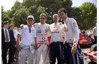 Goodwood Festival of Speed 2010: Nico Rosberg, Jensen Button, Adrian Newey, Mark Webber