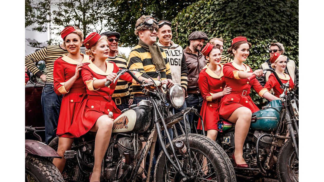 Goodwood Revival, Motorrad-Rowdys
