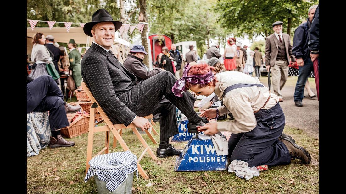 Goodwood Revival, Schuhe putzen, Rene Olma