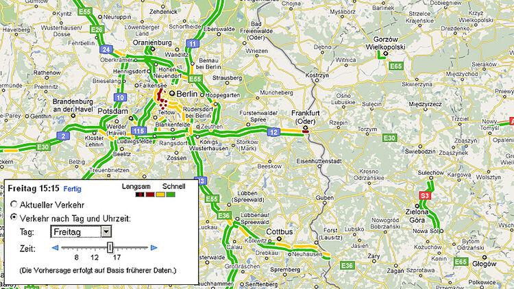 Google Maps Verkehrsinfos: Echtzeit-Verkehrsinfos aus 13 ...