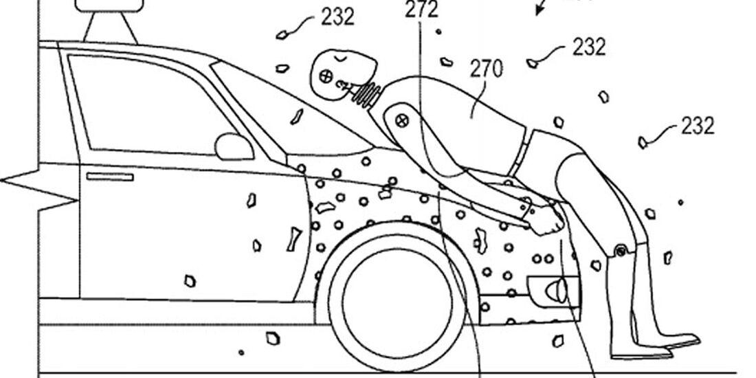 Google Patent Fußgängerschutz