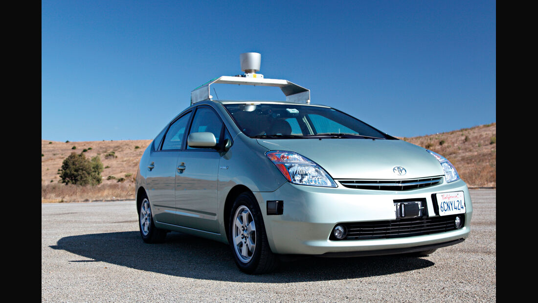 Google-Prius, Frontansicht