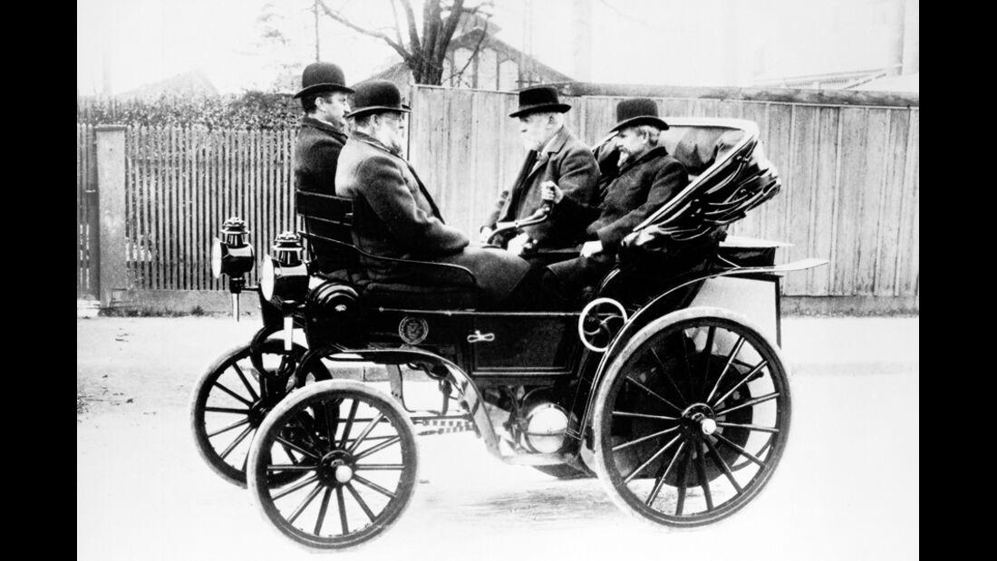 Gottlieb Daimler, Wilhelm Maybach, Riemenantrieb