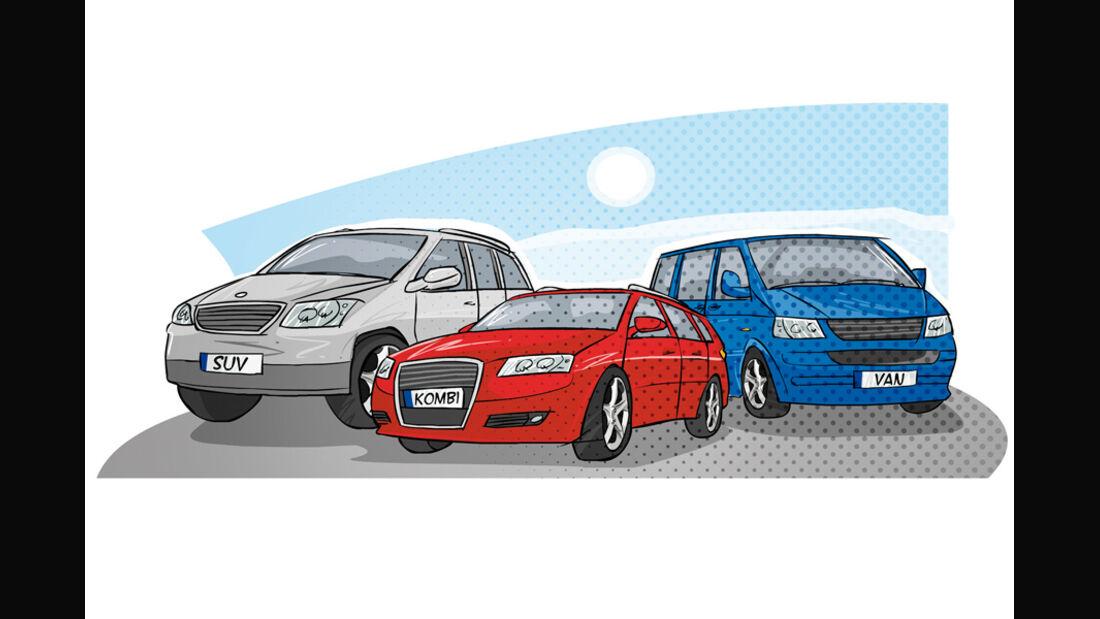 Grafik, Familienautos