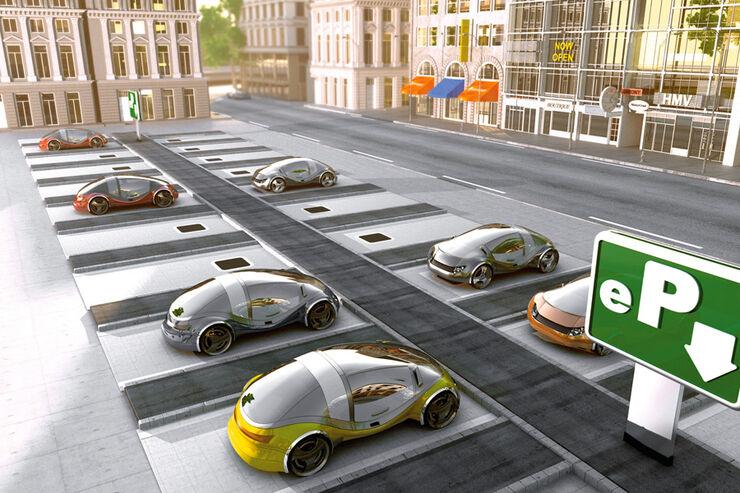Grafik, Ladetechnik, Parkplatz, Future