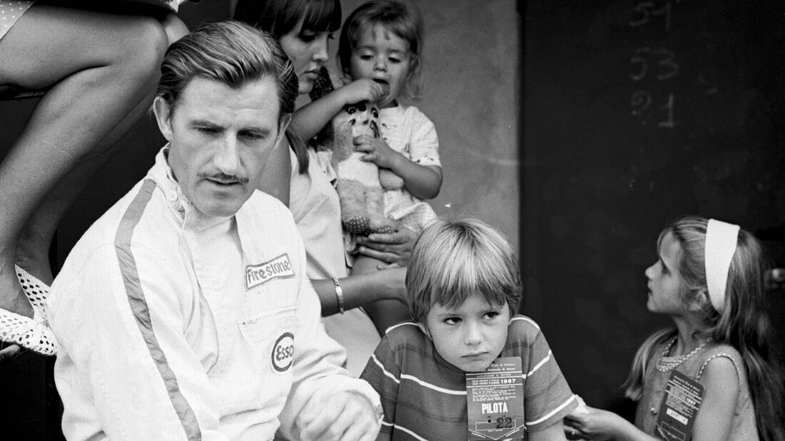 Graham Hill - Damon Hill - GP Italien 1967 - Monza