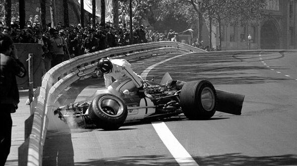 Graham Hill - Lotus 49B - GP Spanien 1969 - Montjuich