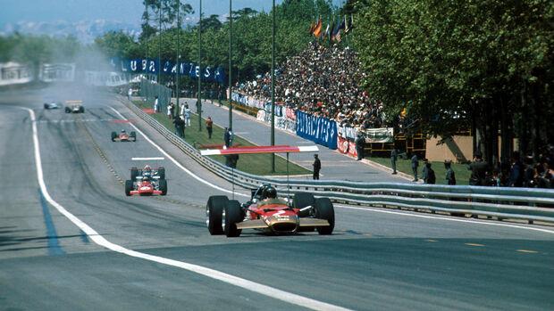 Graham Hill - Lotus 49B - Montjuich - GP Spanien 1969