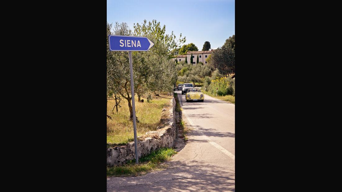Gran Premio Nuvolari, Siena, Ortsschild
