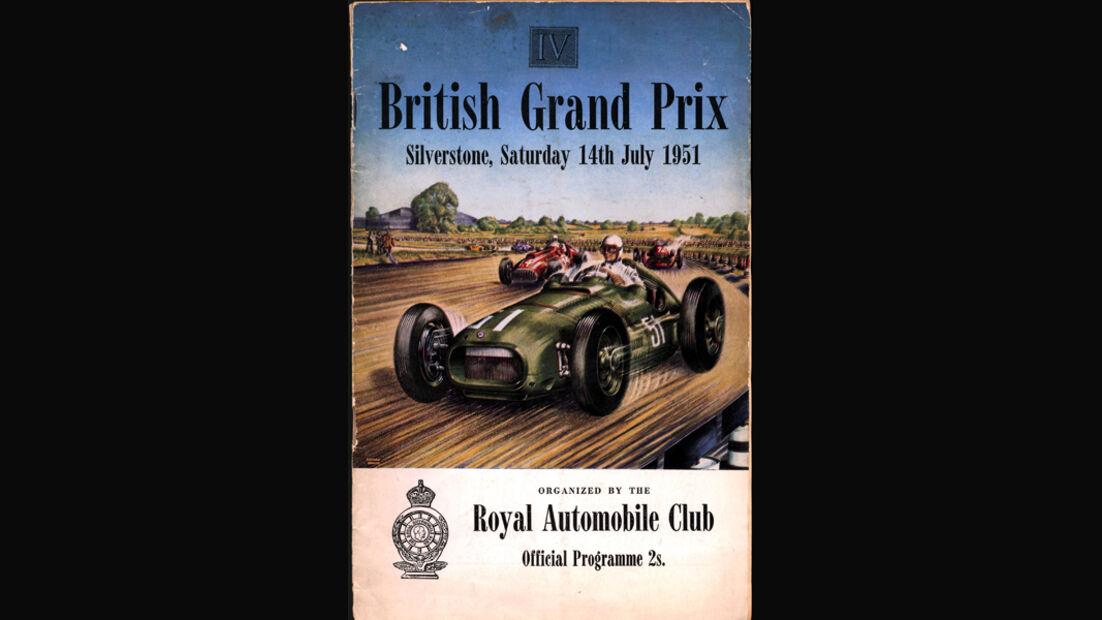 Grand Prix Plakat GP England 1951 Silverstone