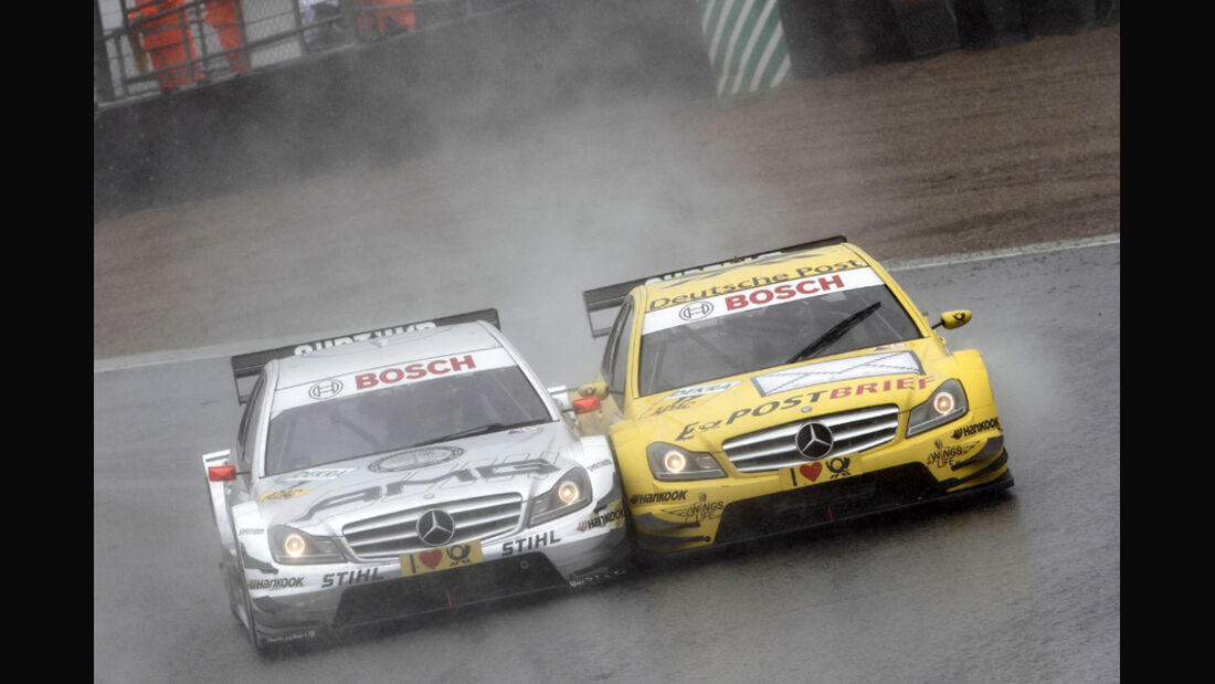 Green vs. Coulthard DTM Brands Hatch 2011